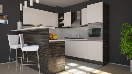 kitchen Zebrano